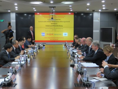 Shijiazhuang with Dietmar Woidke - Prime Minister of Brandenburg state